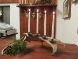 Ljusstakar gjorda av fällhorn.